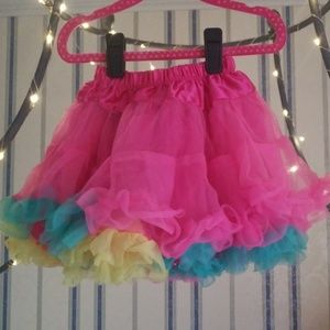 colorful girls underskirt